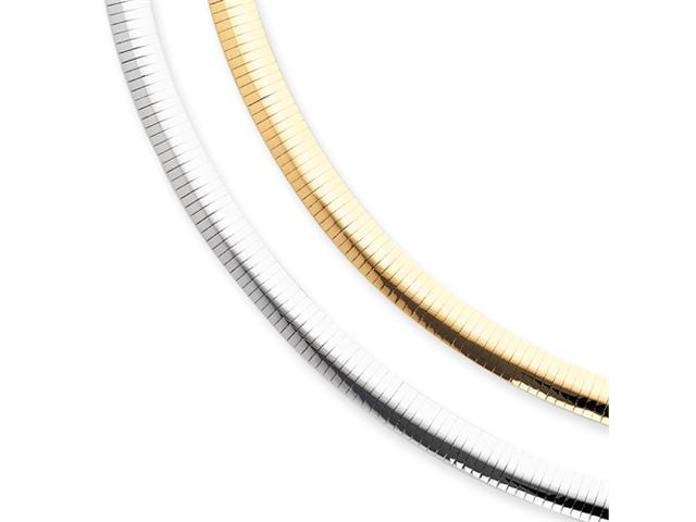 14k Two-tone Reversible 8mm Omega Necklace