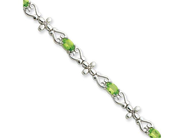 Sterling Silver Peridot Bracelet