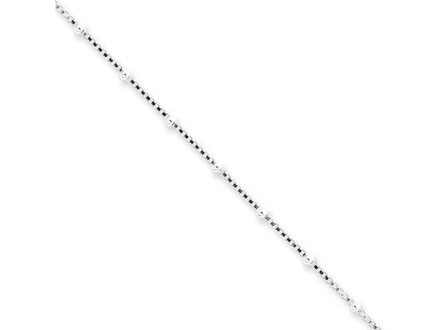 Sterling Silver 1.25mm Beaded Box Chain