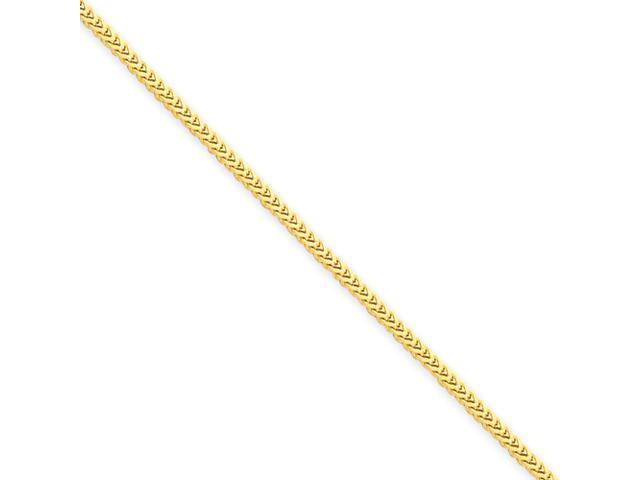 14k 1.3mm Franco Chain
