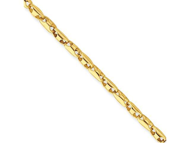 14k 3mm Fancy Link Bracelet