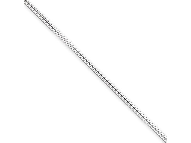 Sterling Silver 1.5mm Round Snake Chain