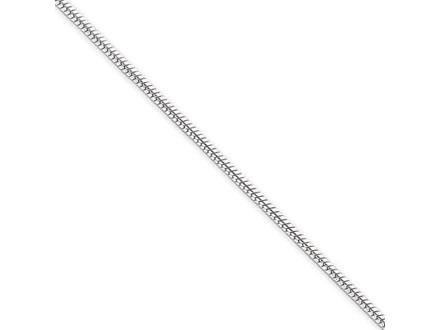 Sterling Silver 1.75mm Round Snake Chain