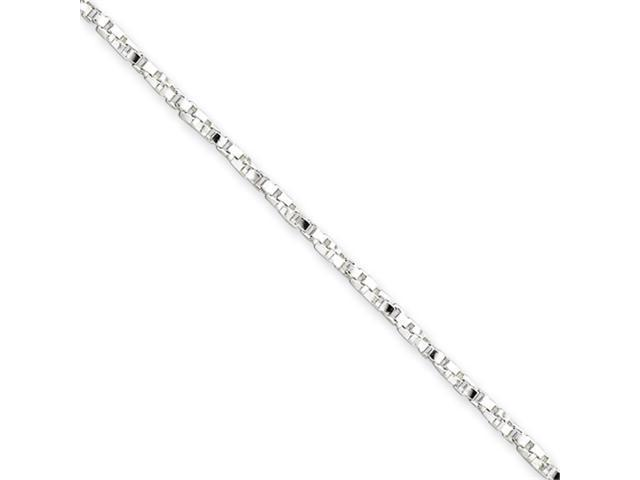Sterling Silver 1.75mm Twisted Box Chain