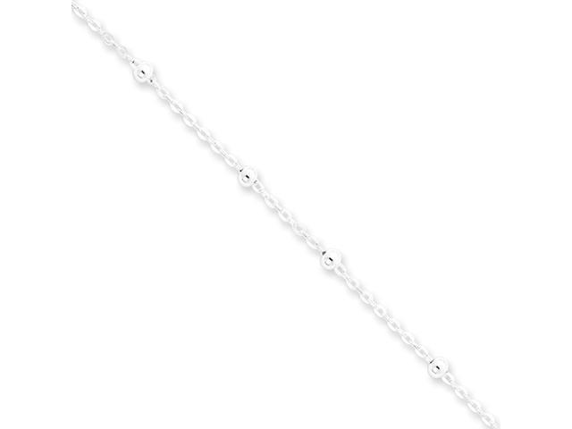 Sterling Silver 1mm Beaded Chain