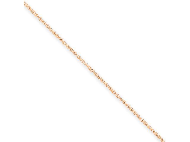 14K Rose Gold .7mm Ropa Chain