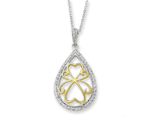 Sterling Silver & Gold-plated Love Carries On 18in Necklace