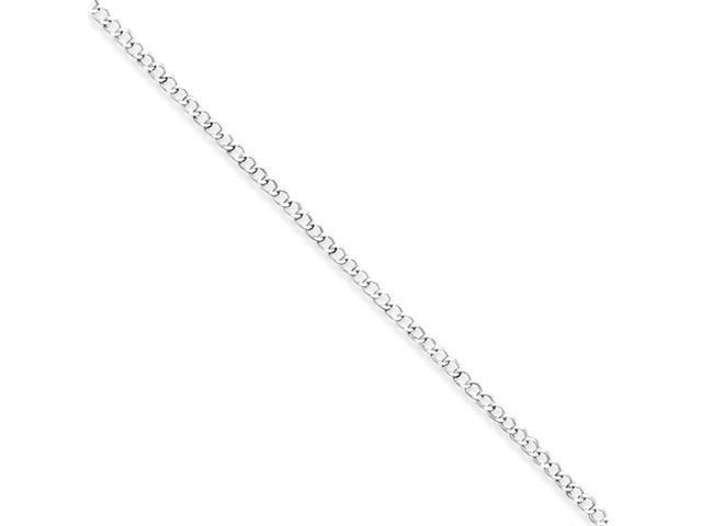 Sterling Silver 2.55mm Wide Curb Chain