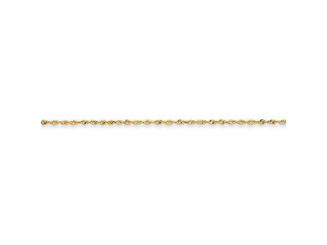 14k 1.5mm D/C Extra-Lite Rope Chain