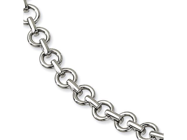 Stainless Steel Polished Links 8.25in Bracelet
