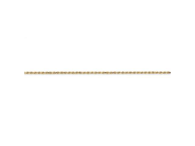 14k 1.4mm Solid D/C Machine-Made with Lobster Rope Chain