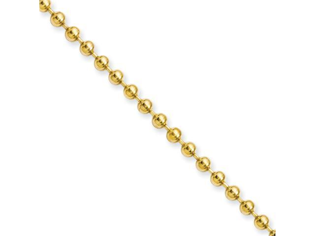 Stainless Steel IP Gold-plated 3.0mm 22in Ball Chain