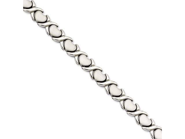 Stainless Steel Stampato 7.5in Bracelet