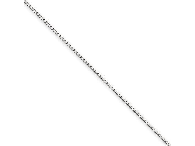 14k White Gold .90mm Box Chain