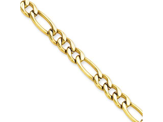 Stainless Steel IP Gold-plated 6.30mm 24in Figaro Chain