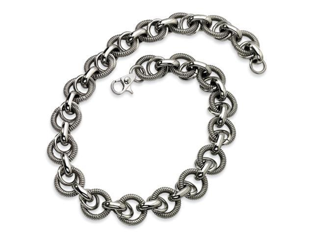 Stainless Steel Fancy Link Necklace