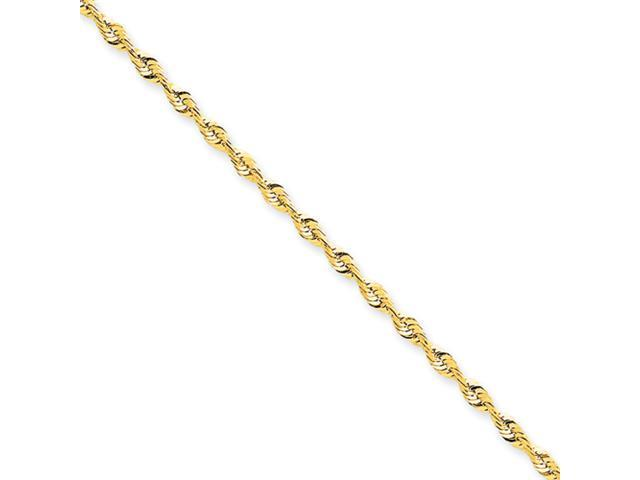 14k 2.5mm D/C Extra-Lite Rope Chain