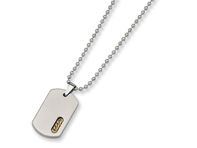 Titanium 24k Gold Plated Necklace