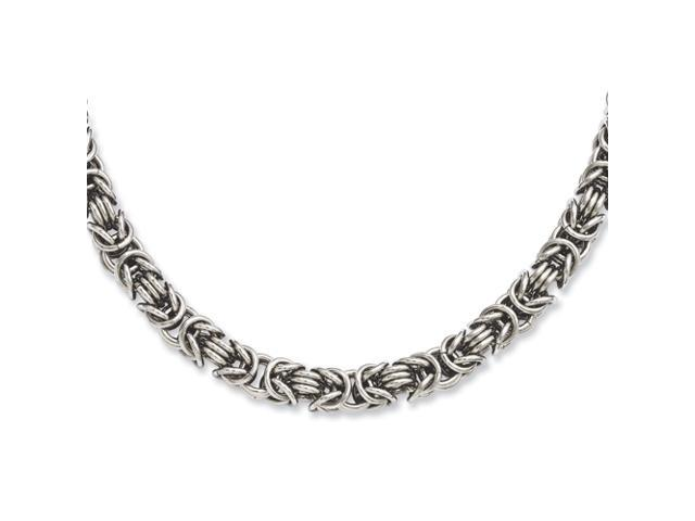 Stainless Steel Fancy Link 22in Necklace