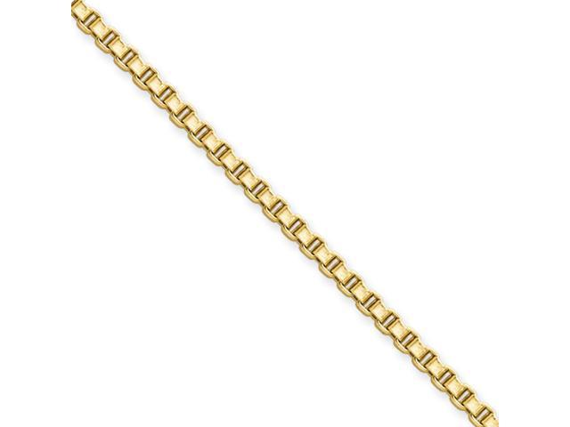 Stainless Steel IP Gold-plated 2.4mm 20in Box Chain