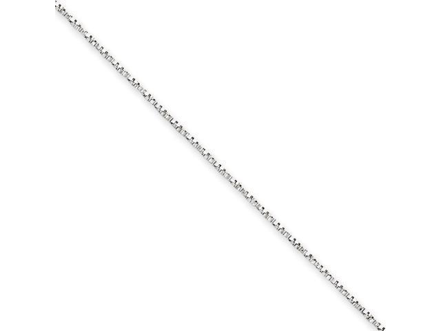 14k White Gold 1mm Twisted Box Chain