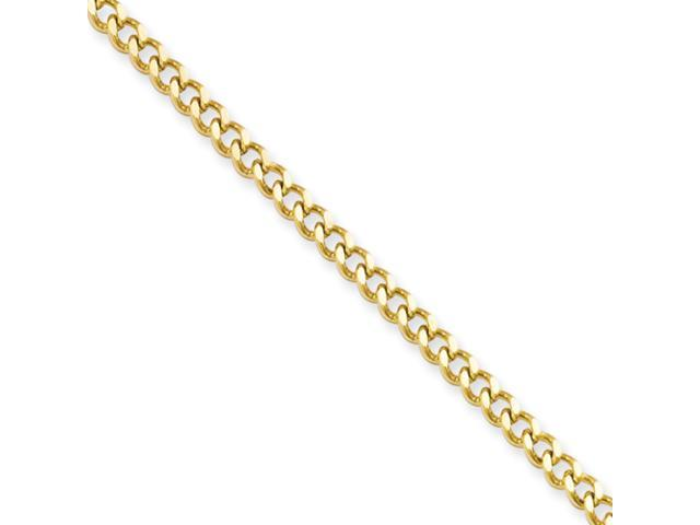 Stainless Steel IP Gold-plated 3.0mm 24in Curb Chain
