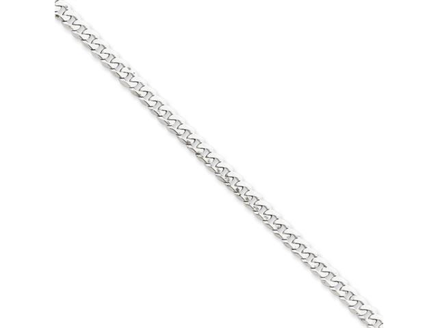 14k White Gold 3.9mm Flat Curb Chain