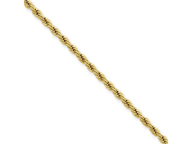 Stainless Steel IP Gold-plated 2.3mm 24in Rope Chain