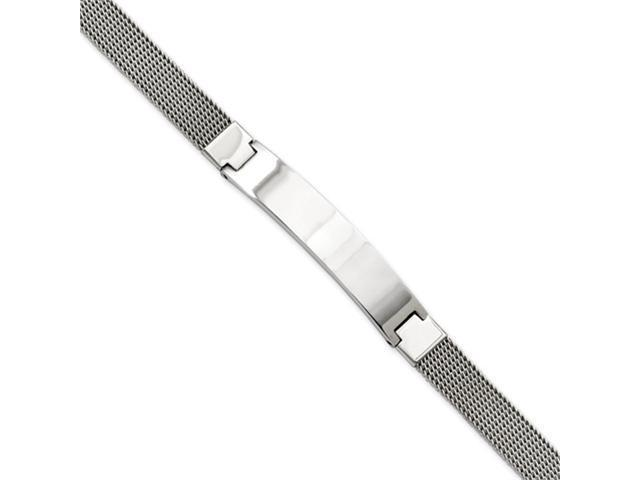 Stainless Steel Mesh w/ID 7.75in Bracelet