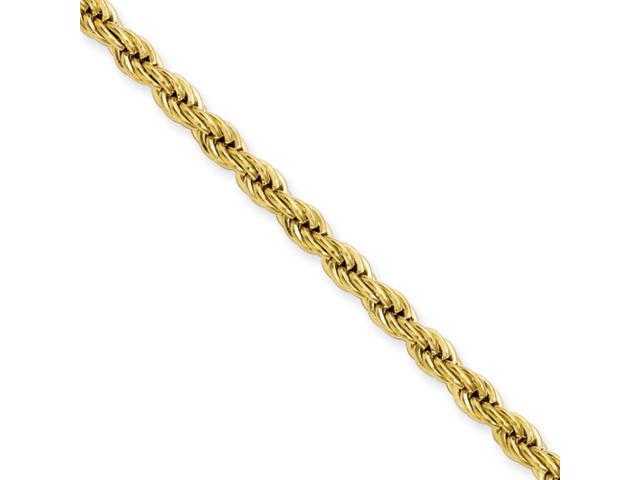 Stainless Steel IP Gold-plated 4.0mm 30in Rope Chain