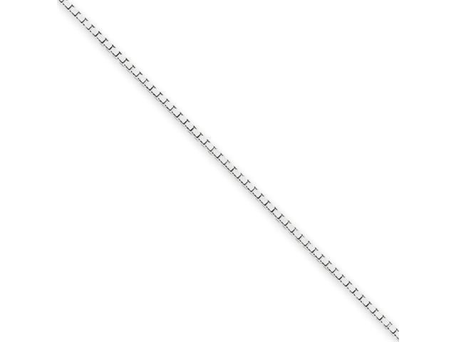 14k White Gold 1.1mm Box Chain
