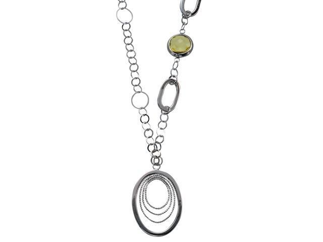 Alesandro Menegati 18K Accented Sterling Silver Lemon Quartz Necklace