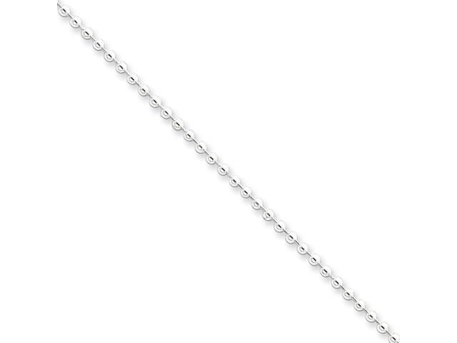 Sterling Silver 2mm Beaded Necklace