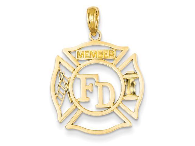 14k FD Member in Shield Pendant