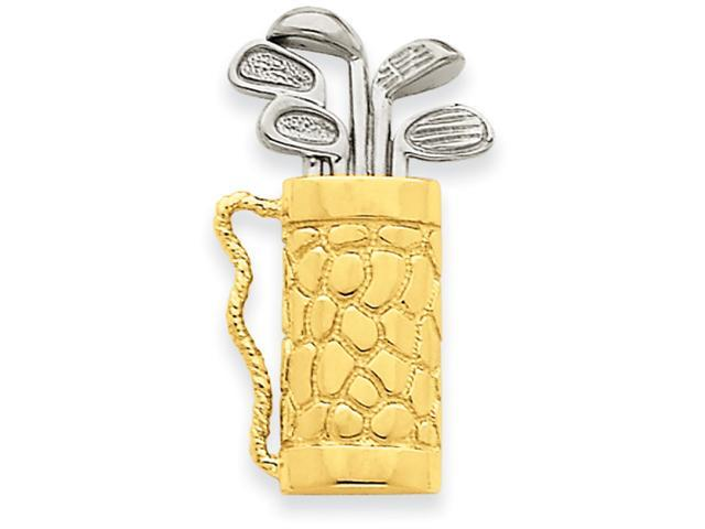 14k Golf Bag  with Clubs Pendant