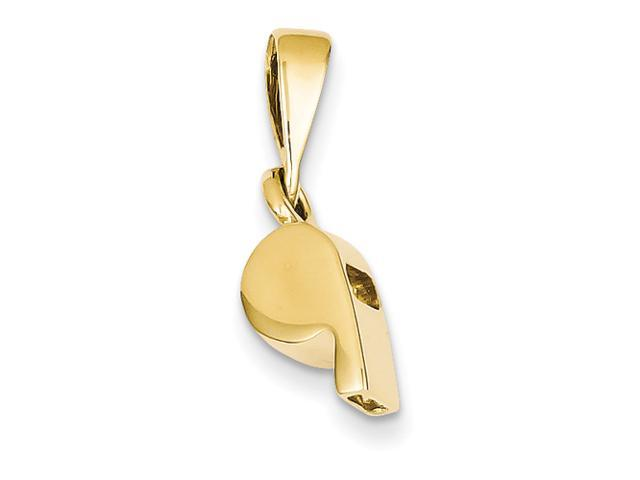 14k Sports Whistle Pendant