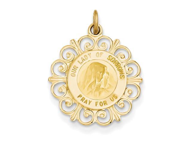 14k Our Lady of Sorrows Medal Pendant
