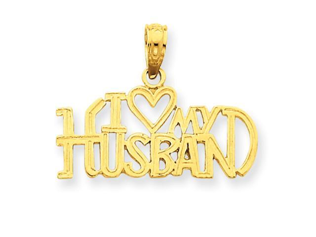 14k I Heart My Husband Pendant