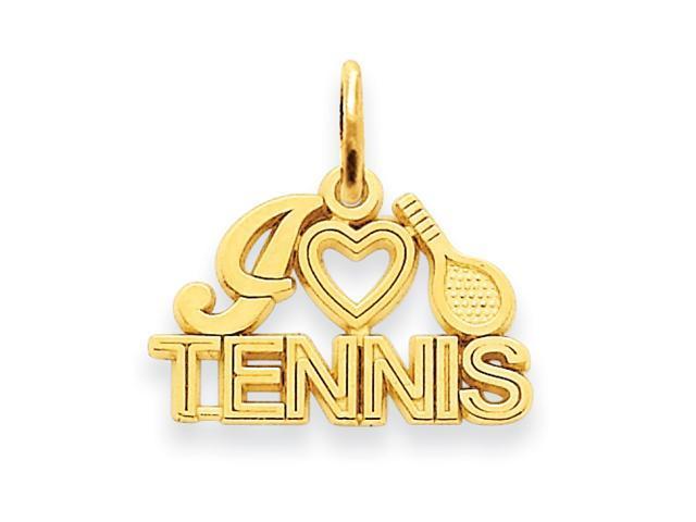 14k I Love Tennis Charm