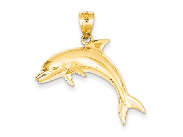 14k Dolphin Pendant