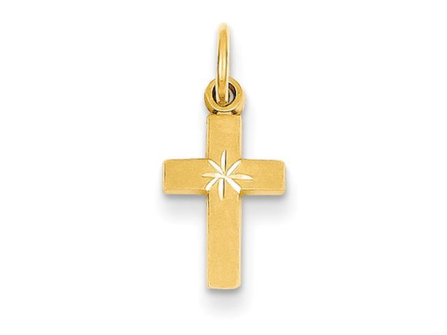 14k Tiny Cross Charm