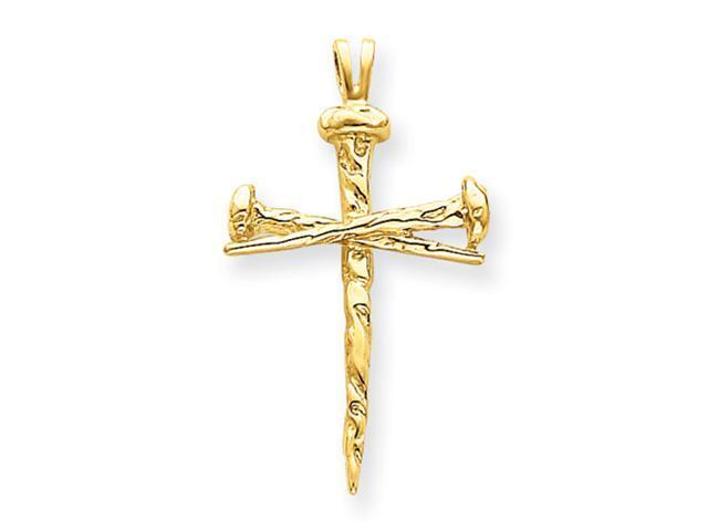 14k Polished Cross Charm