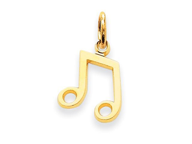 14k Musical Note Charm