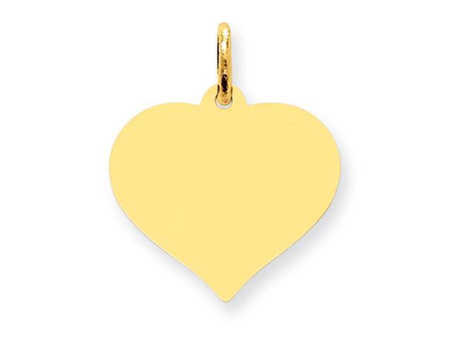 10K Heart Disc Charm