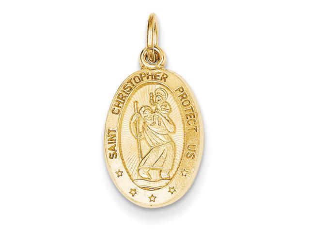 14k Saint Christopher Medal Charm