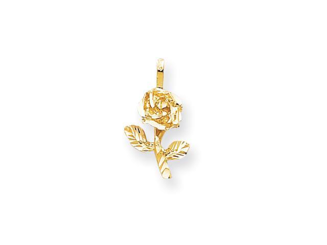 10k Yellow Gold Rose Charm