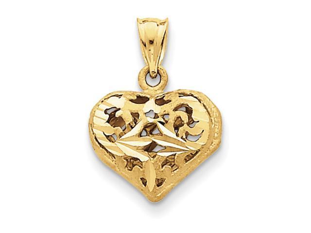 14k Fancy Heart Charm