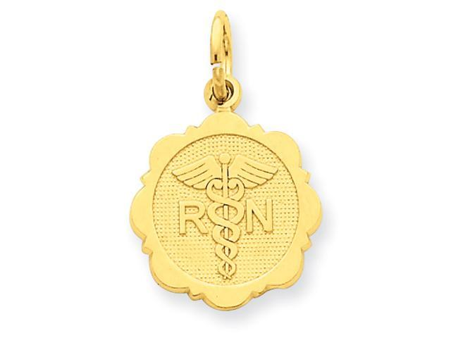 14k Registered Nurse Disc Charm