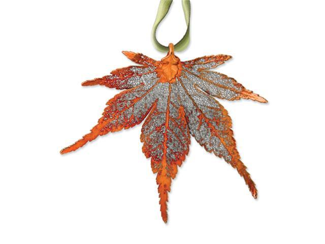 Iridescent Copper Dipped Japanese Maple Decorative Leaf
