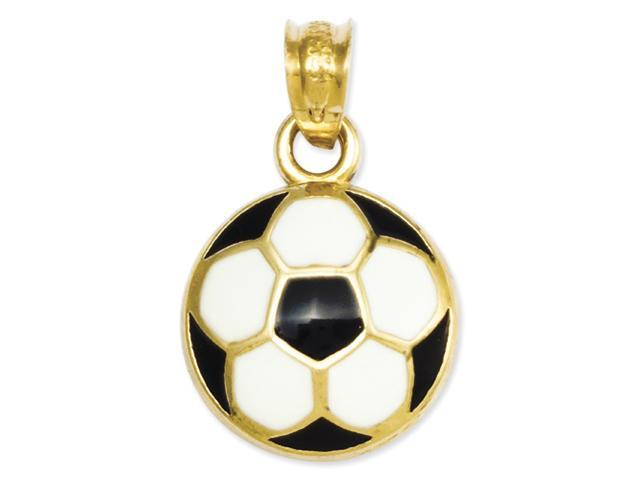 14k Enameled Soccer Ball Pendant
